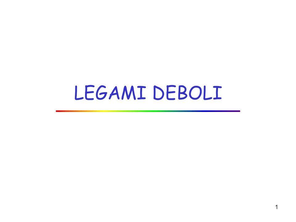LEGAMI DEBOLI