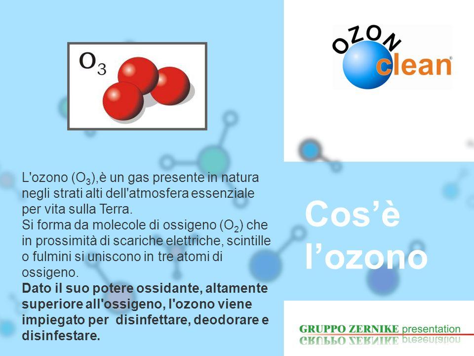 L ozono (O3),è un gas presente in natura negli strati alti dell atmosfera essenziale per vita sulla Terra.