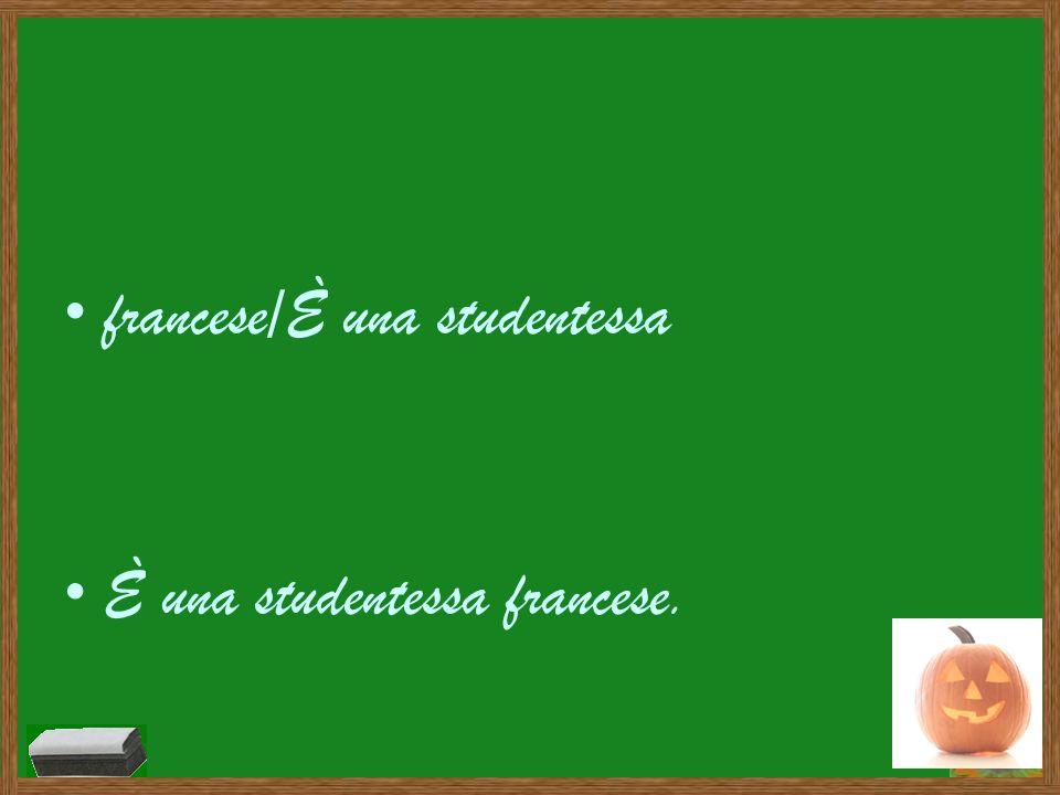 francese/È una studentessa
