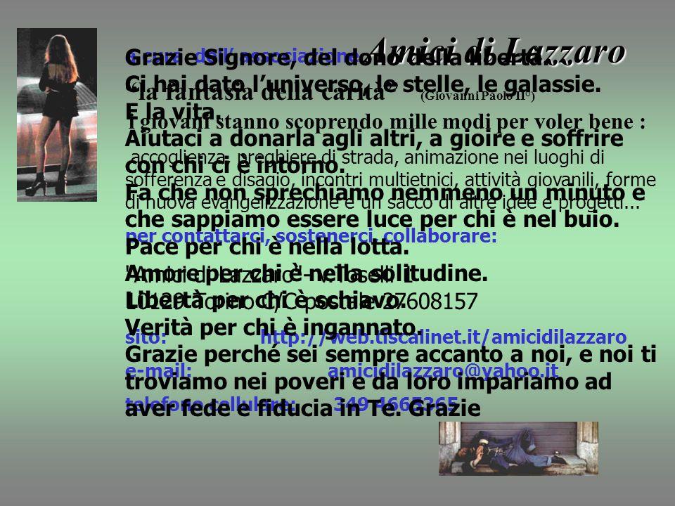 Amici di Lazzaro - v.Toselli 1 10129 Torino C/C postale 27608157