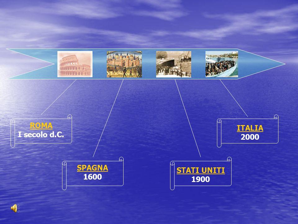 ROMA I secolo d.C. ITALIA 2000 SPAGNA 1600 STATI UNITI 1900