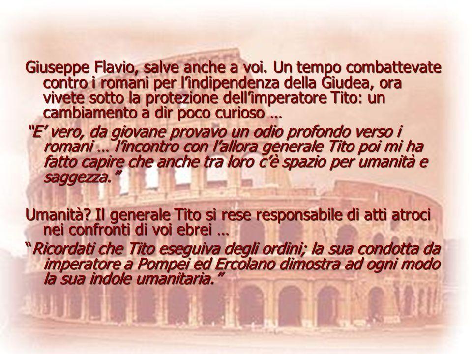 Giuseppe Flavio, salve anche a voi
