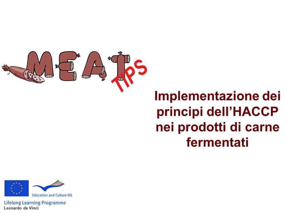 Implementazione dei principi dell'HACCP nei prodotti di carne fermentati