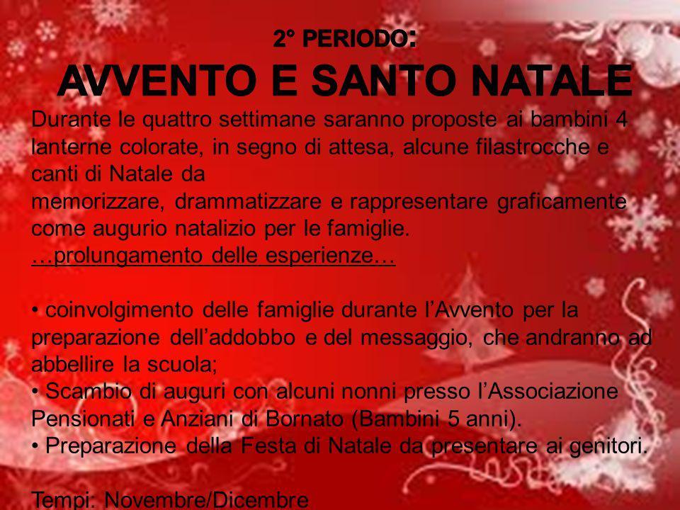 AVVENTO E SANTO NATALE 2° PERIODO: