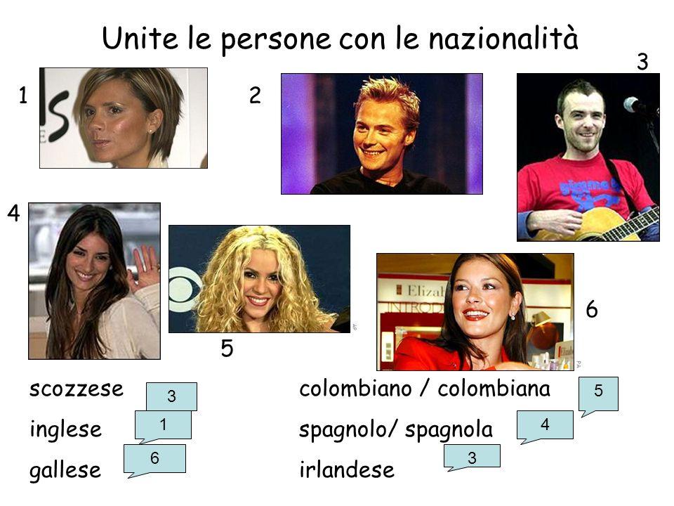 Unite le persone con le nazionalità