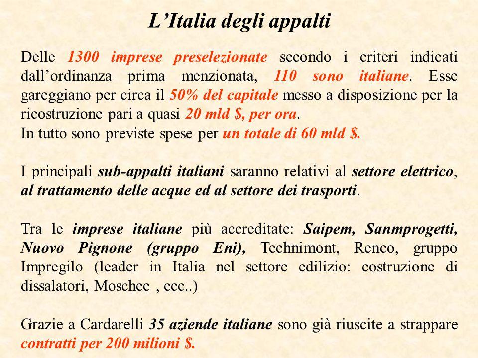 L'Italia degli appalti