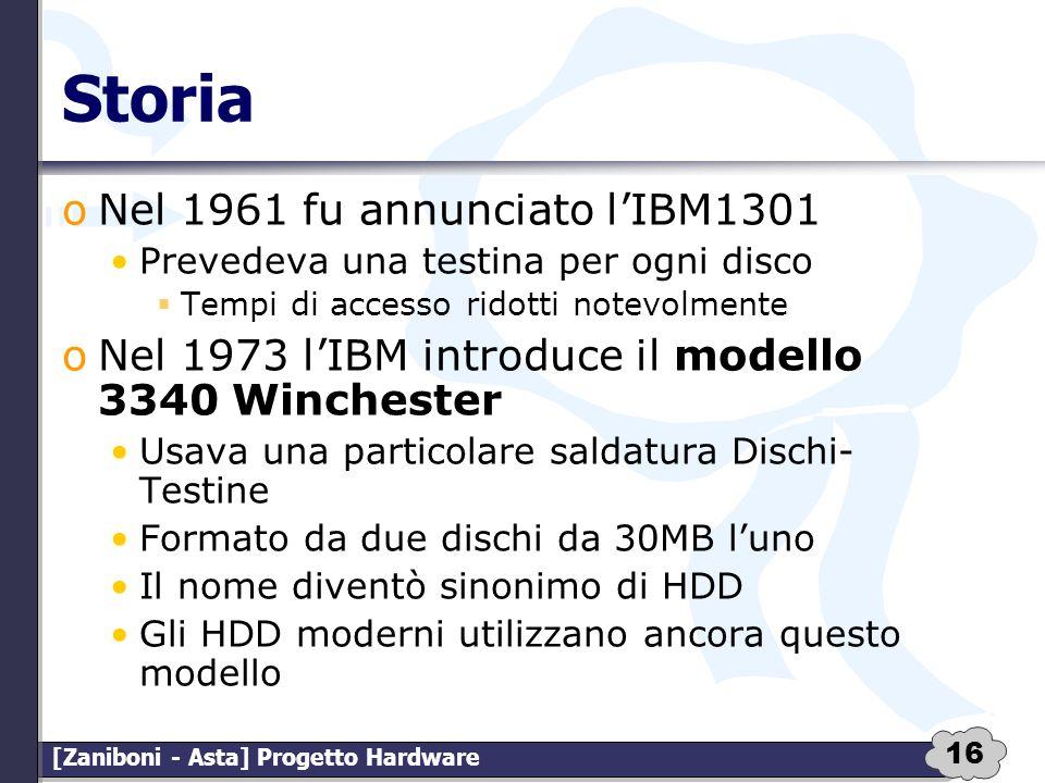 Storia Nel 1961 fu annunciato l'IBM1301