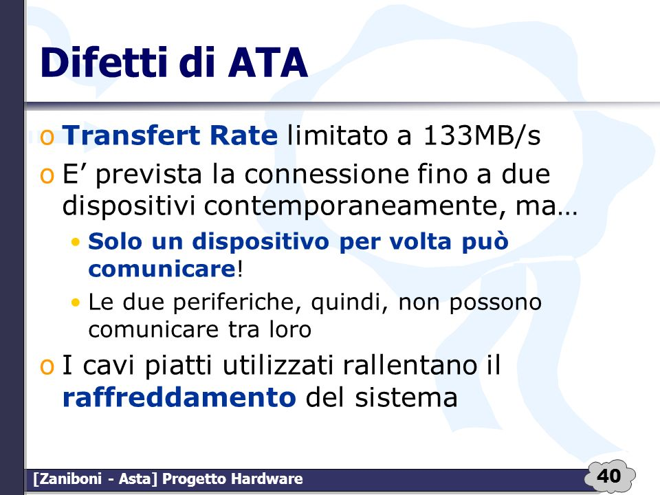 Difetti di ATA Transfert Rate limitato a 133MB/s