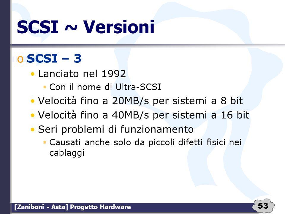 SCSI ~ Versioni SCSI – 3 Lanciato nel 1992