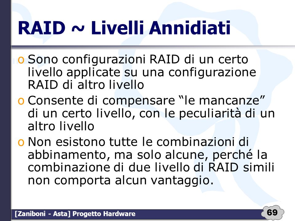 RAID ~ Livelli Annidiati