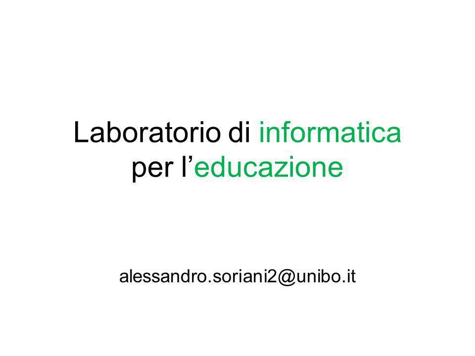 Laboratorio di informatica per l'educazione