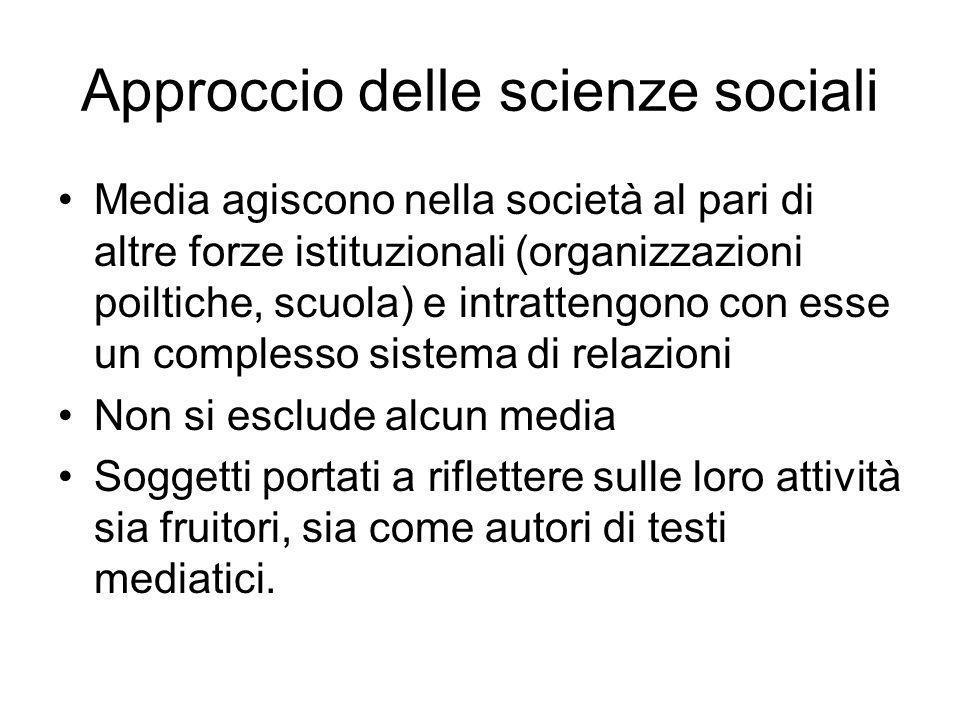 Approccio delle scienze sociali