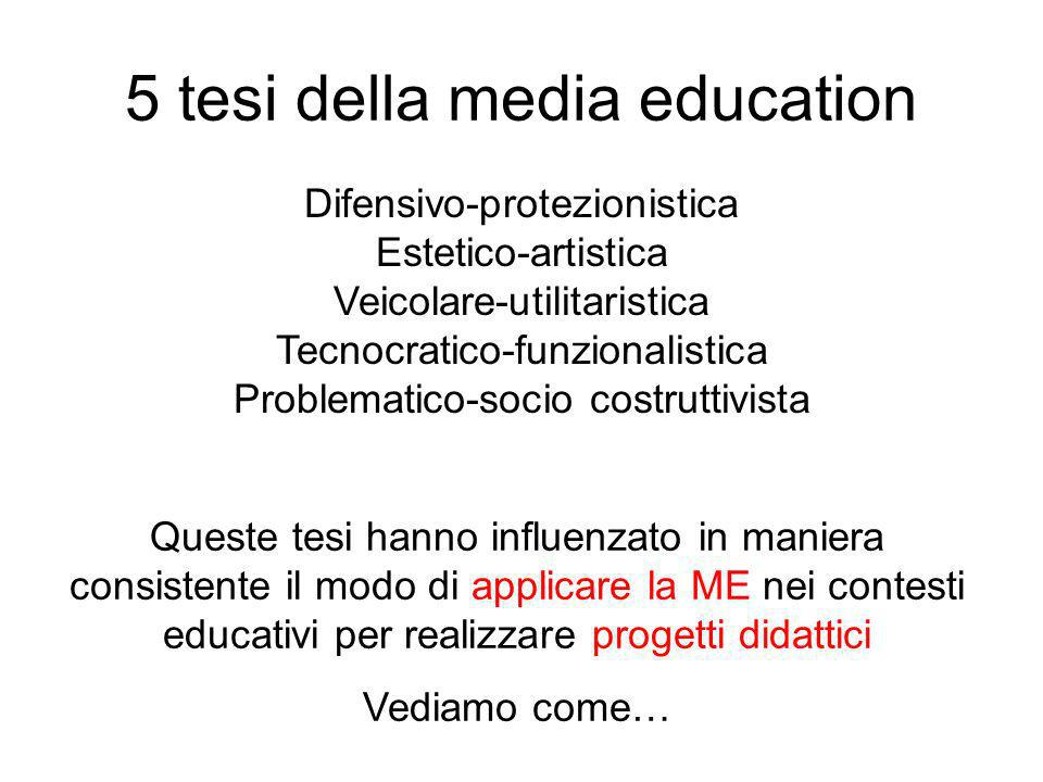 5 tesi della media education