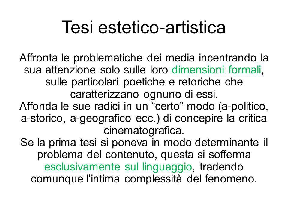 Tesi estetico-artistica