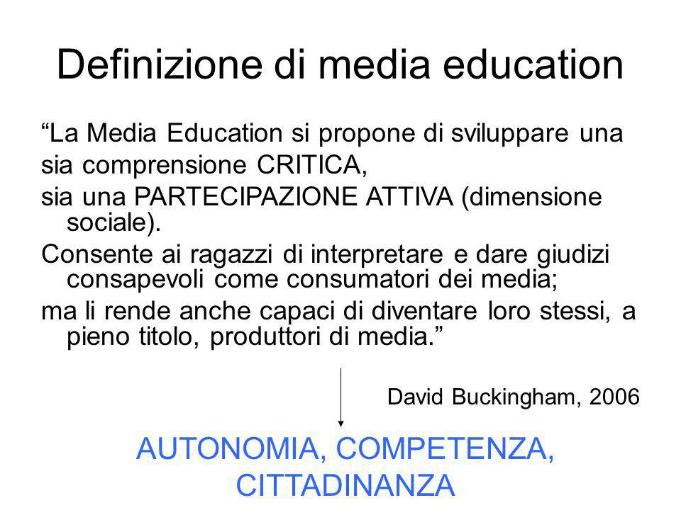 Definizione di media education