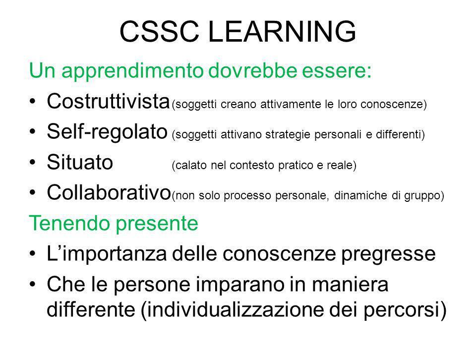 CSSC LEARNING Un apprendimento dovrebbe essere: