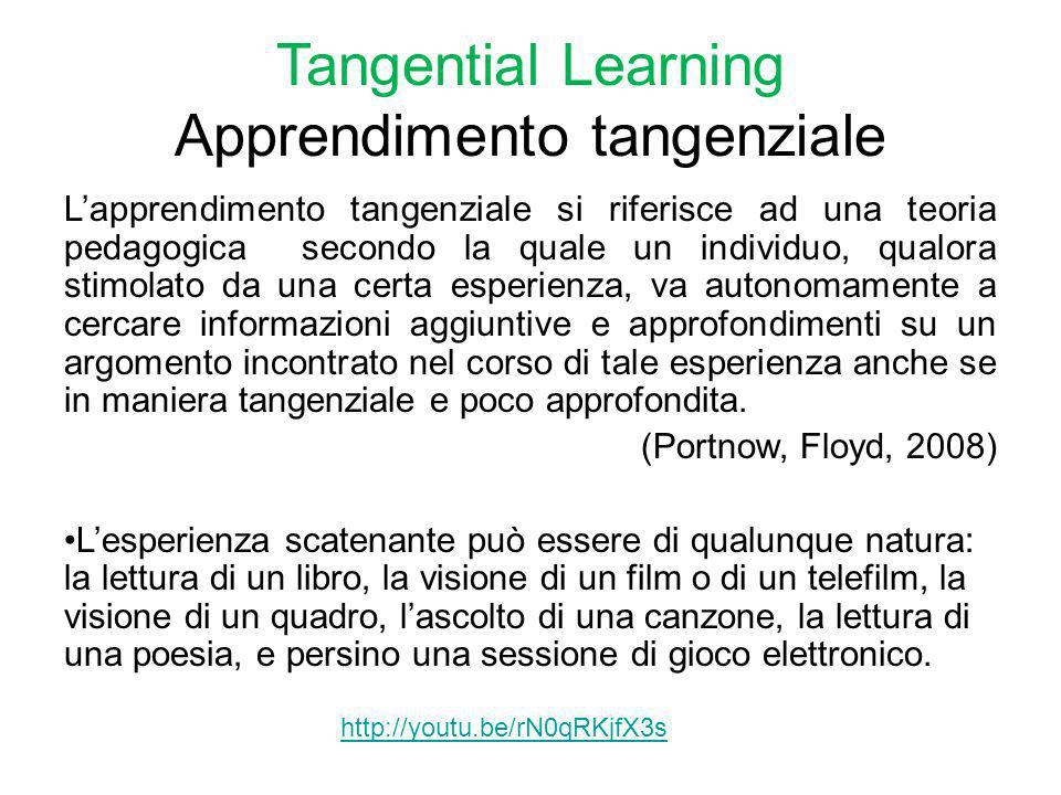Tangential Learning Apprendimento tangenziale