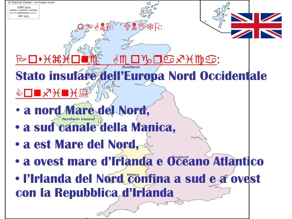 Stato insulare dell'Europa Nord Occidentale a nord Mare del Nord,