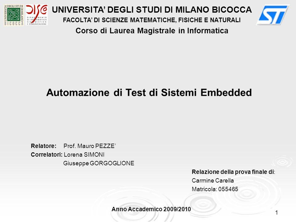Automazione di Test di Sistemi Embedded