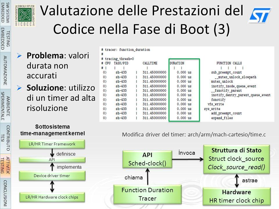 Valutazione delle Prestazioni del Codice nella Fase di Boot (3)