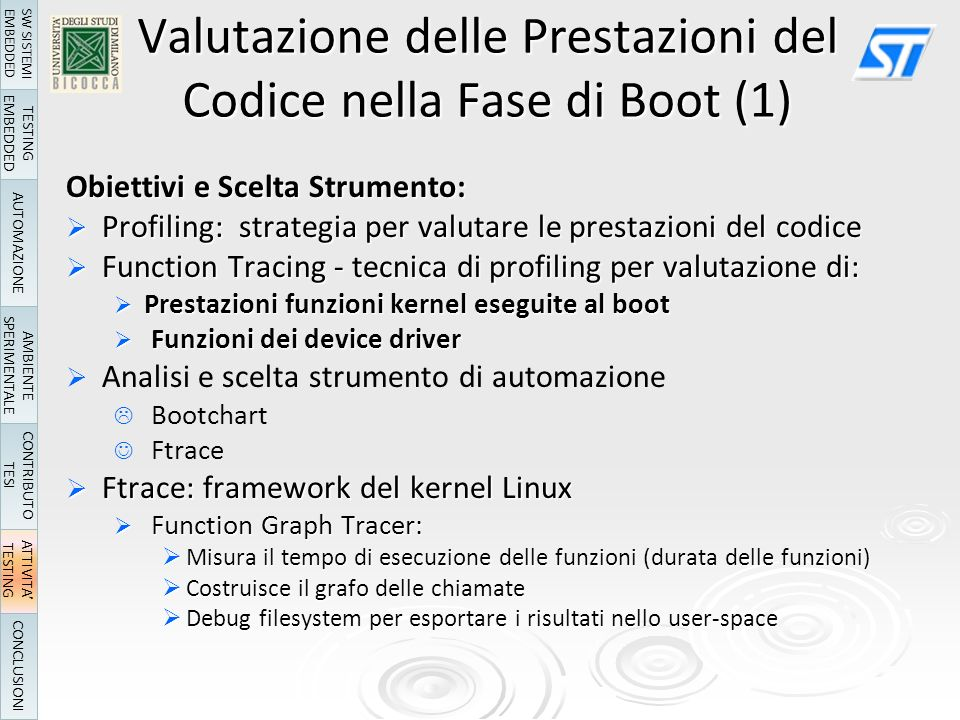 Valutazione delle Prestazioni del Codice nella Fase di Boot (1)