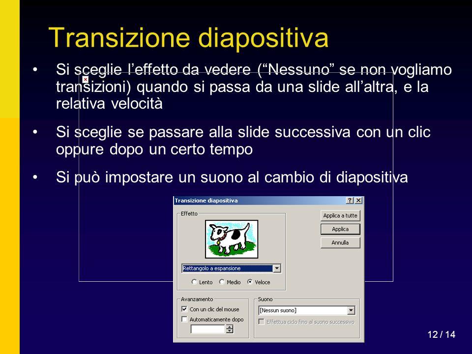 Transizione diapositiva