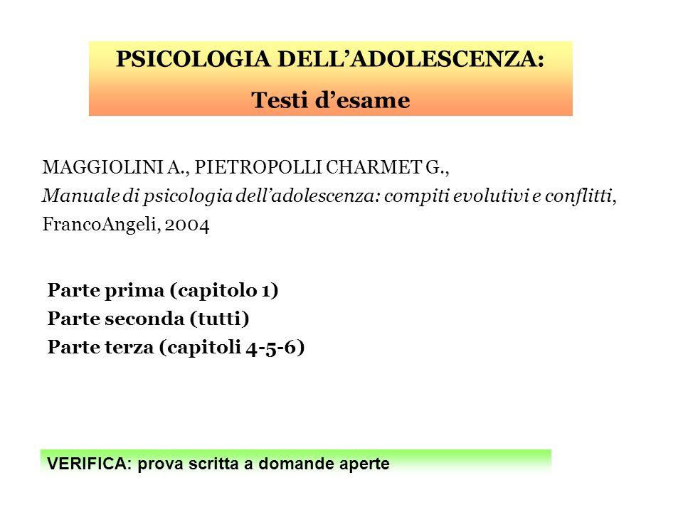 PSICOLOGIA DELL'ADOLESCENZA: