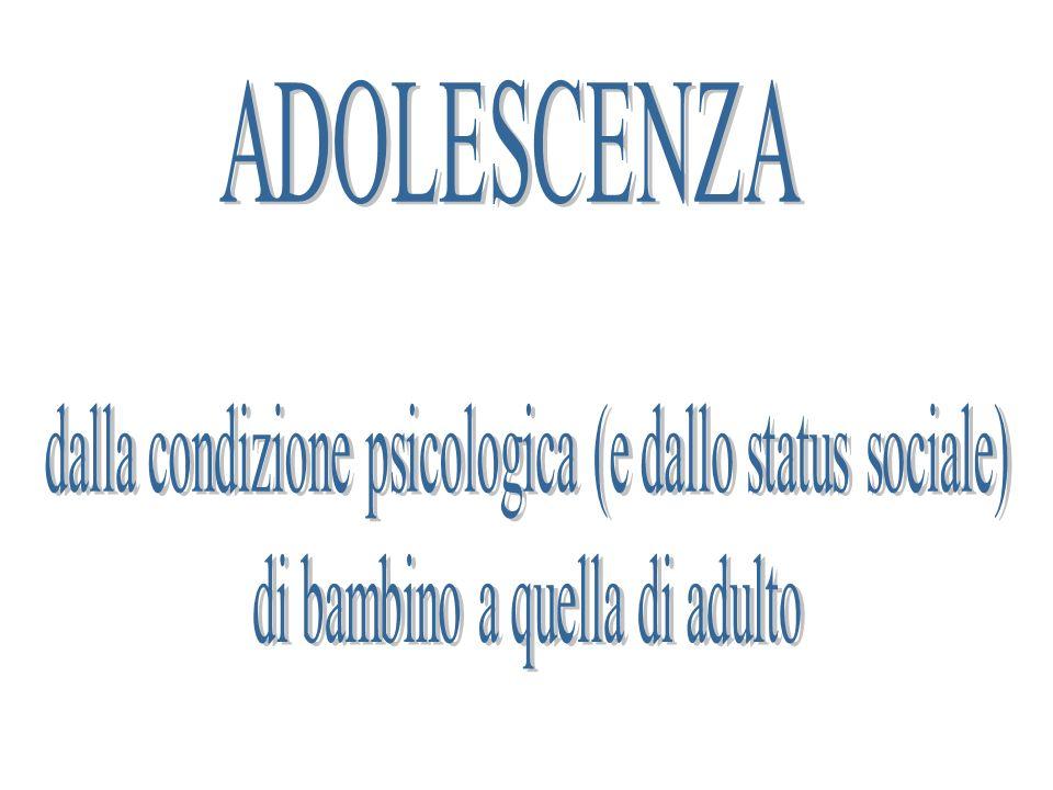 ADOLESCENZA dalla condizione psicologica (e dallo status sociale)