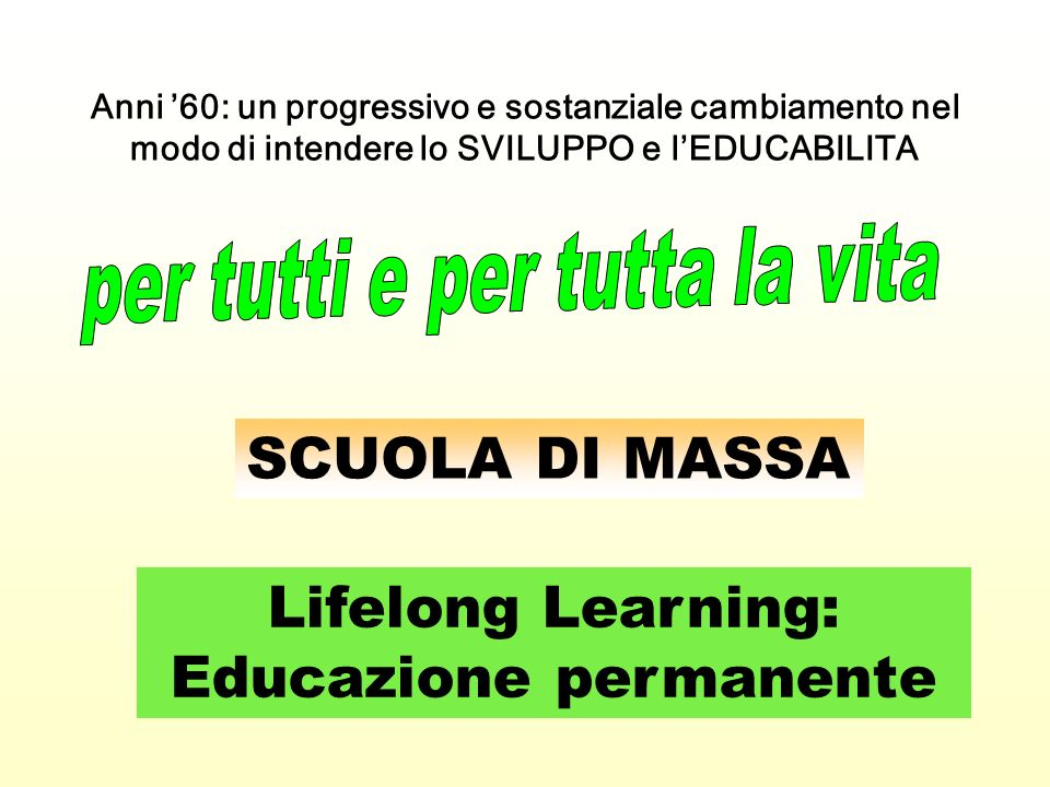 Lifelong Learning: Educazione permanente