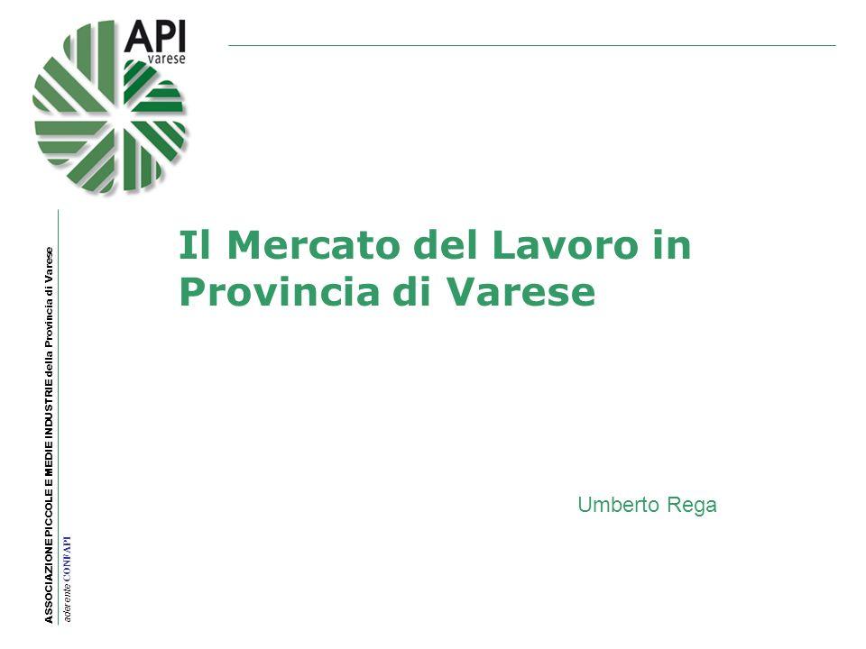 Il Mercato del Lavoro in Provincia di Varese