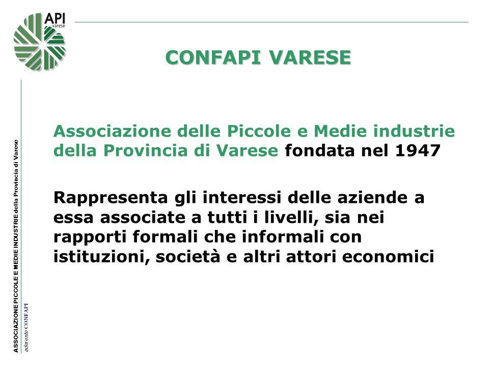 CONFAPI VARESEAssociazione delle Piccole e Medie industrie della Provincia di Varese fondata nel 1947.