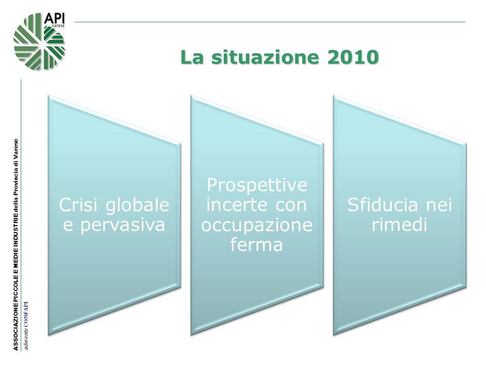 La situazione 2010 Crisi globale e pervasiva