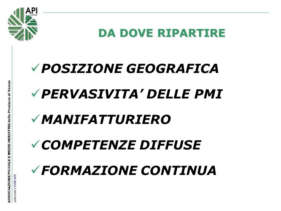 PERVASIVITA' DELLE PMI MANIFATTURIERO COMPETENZE DIFFUSE