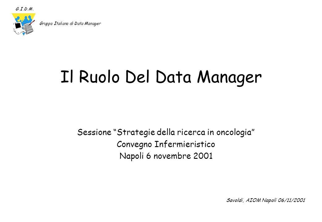 Il Ruolo Del Data Manager