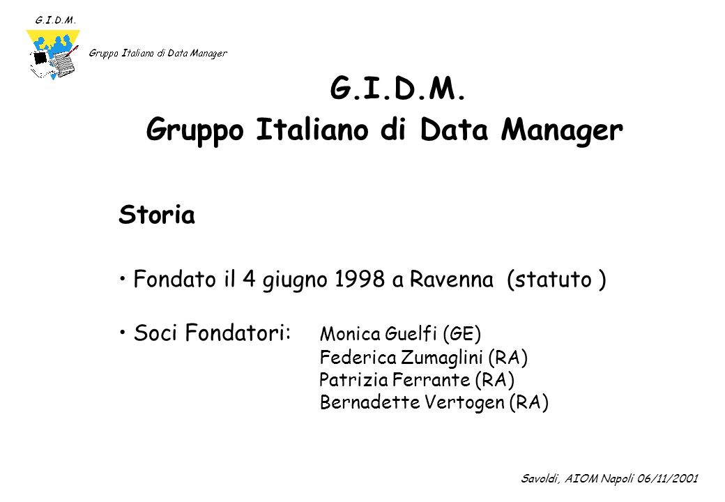 Gruppo Italiano di Data Manager