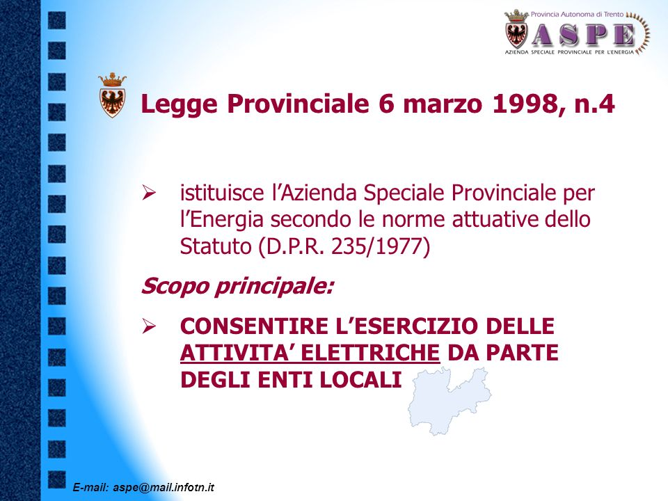 Legge Provinciale 6 marzo 1998, n.4