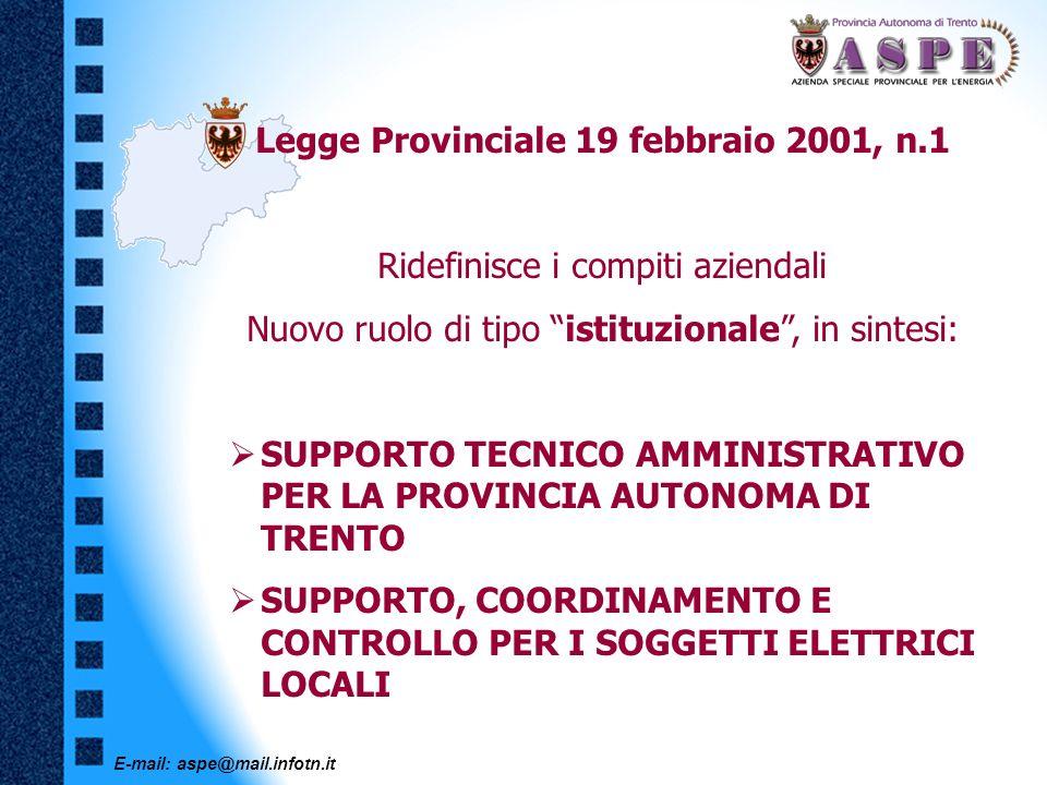 Legge Provinciale 19 febbraio 2001, n.1