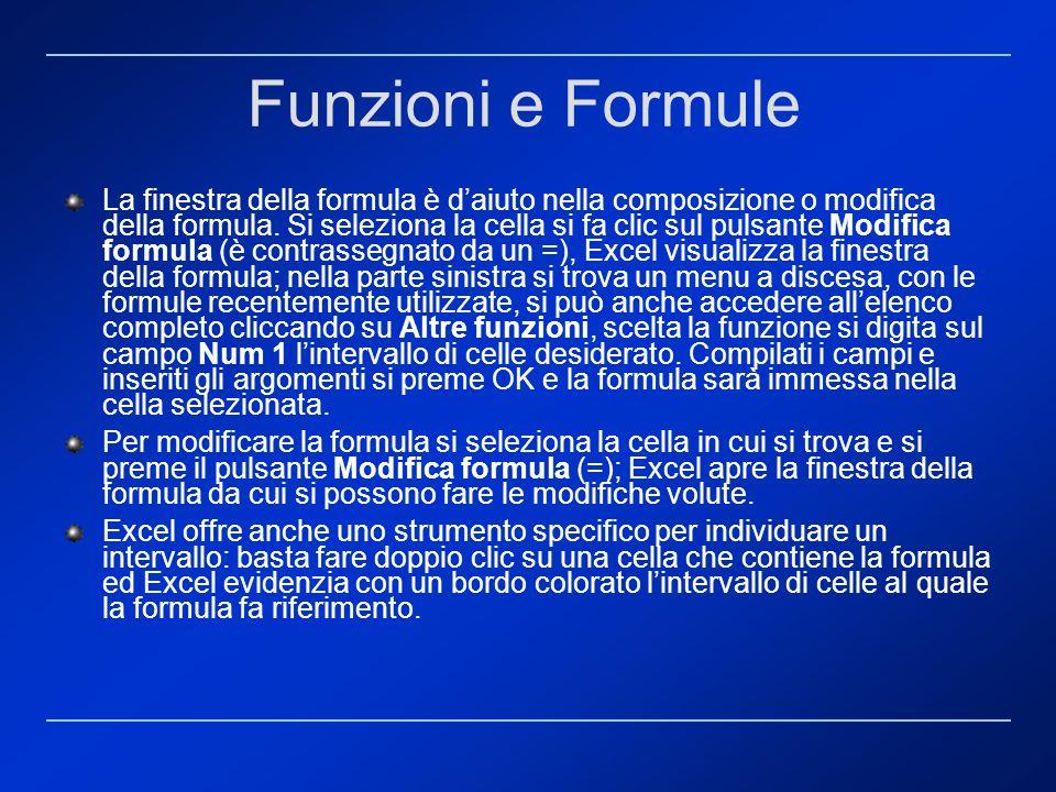 Funzioni e Formule