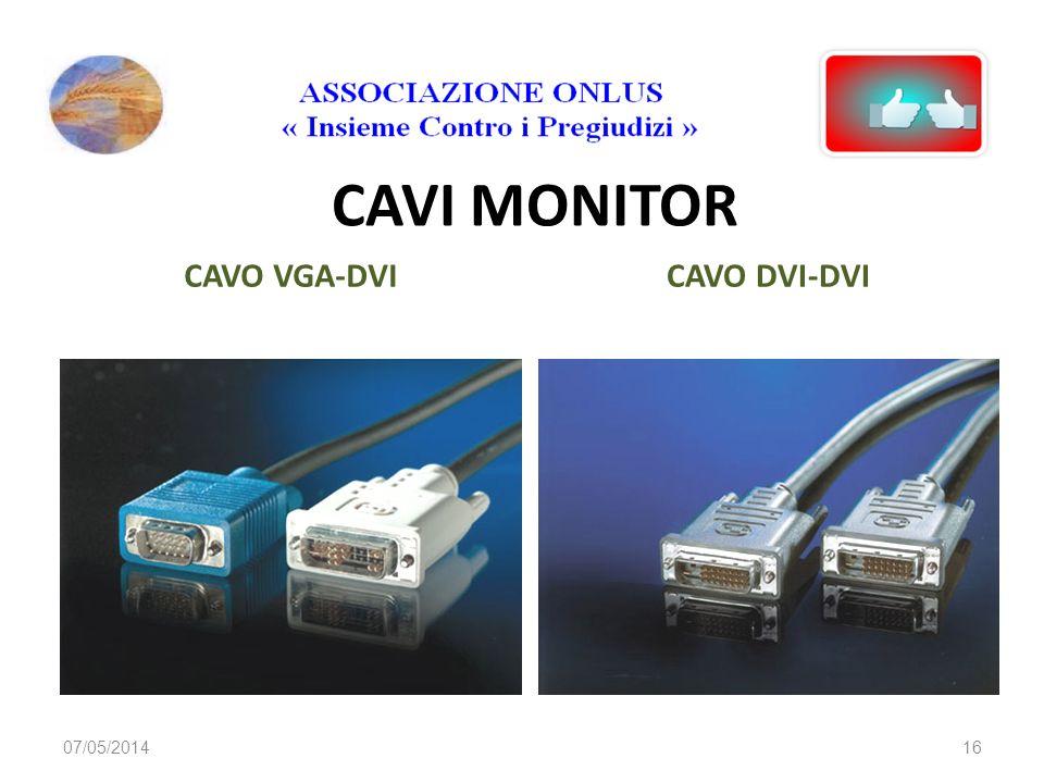 CAVI MONITOR CAVO VGA-DVI CAVO DVI-DVI 29/03/2017