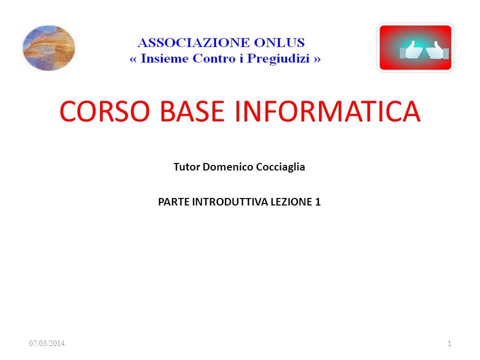 CORSO BASE INFORMATICA