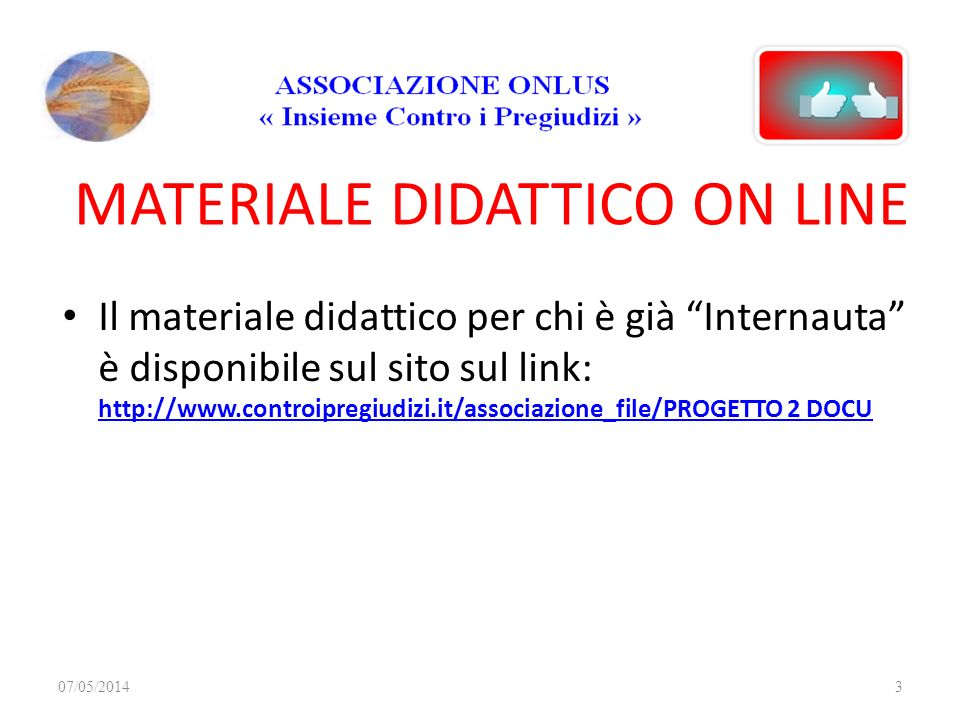 MATERIALE DIDATTICO ON LINE