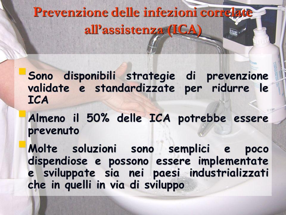 Prevenzione delle infezioni correlate all'assistenza (ICA)