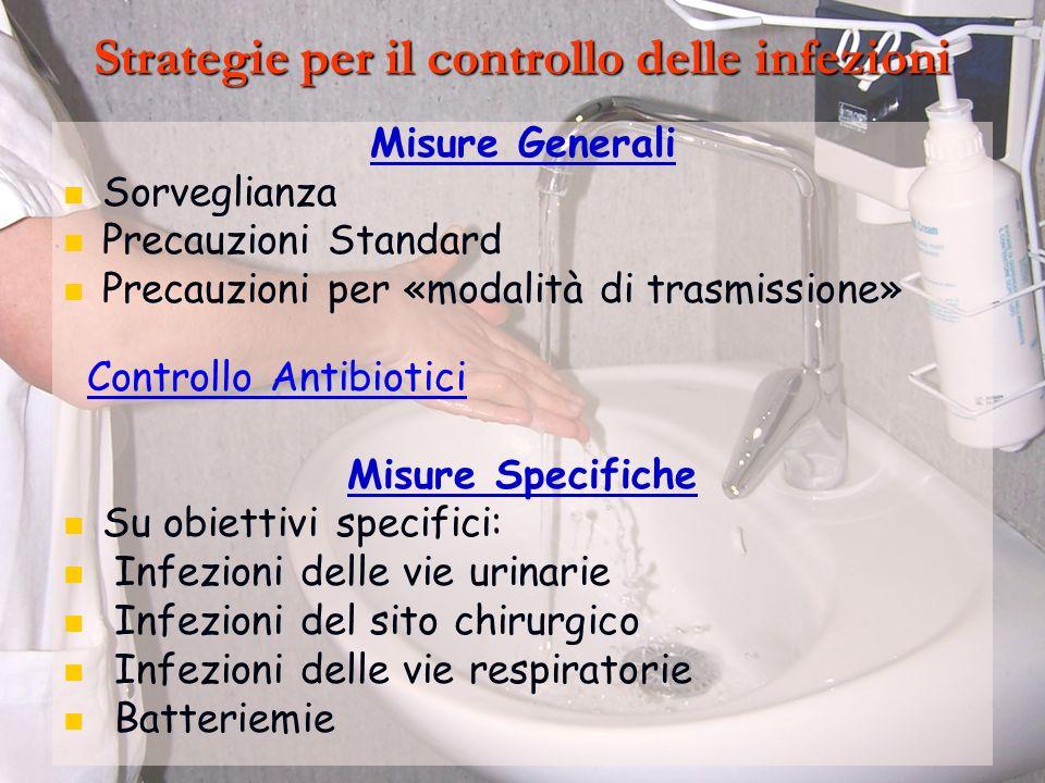 Strategie per il controllo delle infezioni