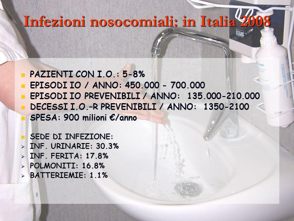 Infezioni nosocomiali: in Italia 2008