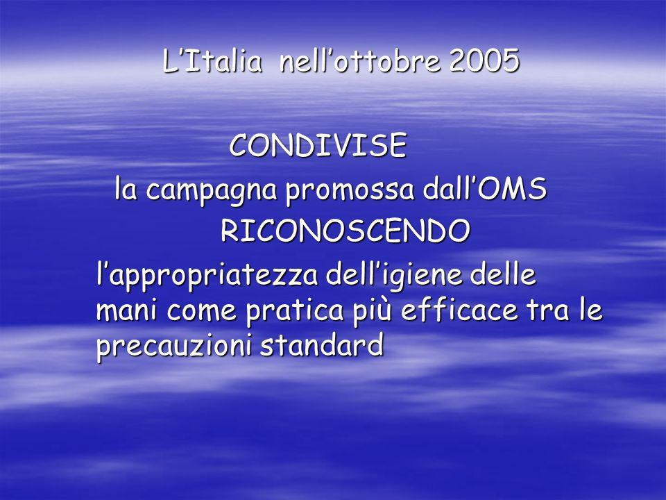 L'Italia nell'ottobre 2005