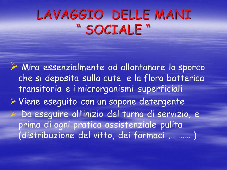 LAVAGGIO DELLE MANI SOCIALE