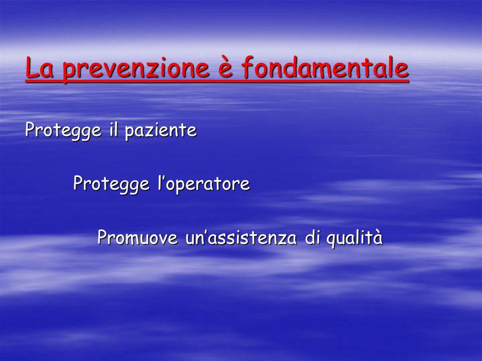 La prevenzione è fondamentale