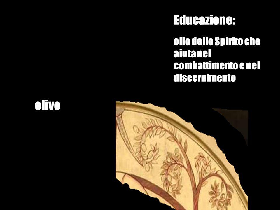 Educazione: olio dello Spirito che aiuta nel combattimento e nel discernimento olivo