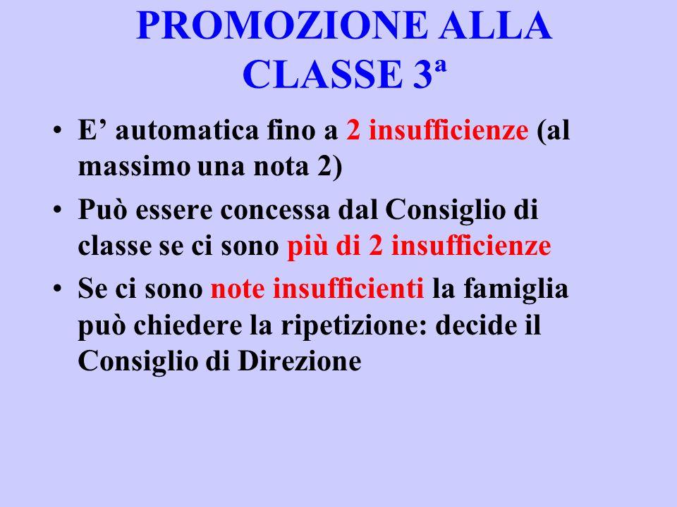 PROMOZIONE ALLA CLASSE 3ª
