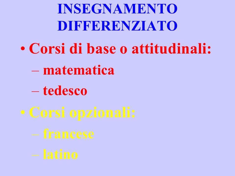 INSEGNAMENTO DIFFERENZIATO